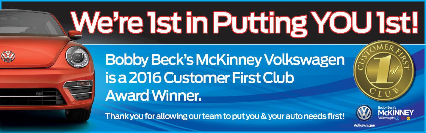 mckinney volkswagen named customer  club award member mckinney volkswagen